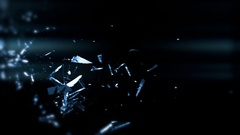 Shattering Glass In Slow-Motion With Lens Flare - 73 Stock Footage