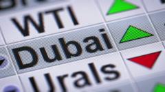 Dubai Crude Oil. Up. Looping. Stock Footage