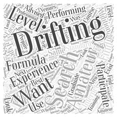 Do You Want to Participate In Amateur Formula Drifting word cloud concept Stock Illustration