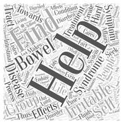 Irritable bowel syndrome self help group word cloud concept Stock Illustration