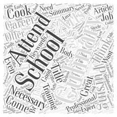 Why Attend Culinary School word cloud concept Stock Illustration