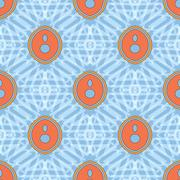Seamless texture. Abstract symmetrical image. On a blue background Stock Illustration