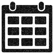 Calendar Month Grainy Texture Icon Stock Illustration
