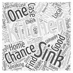 Kitchen Remodeling Choosing a New Kitchen Sink word cloud concept Stock Illustration