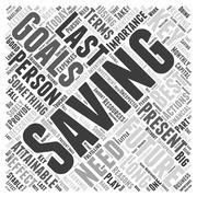 SM importance of saving money word cloud concept Stock Illustration