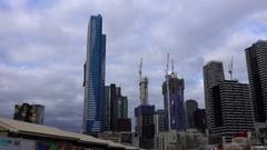 Melbourne Skyline, Skyscrapers Stock Footage