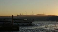 Istanbul on sunrise Stock Footage
