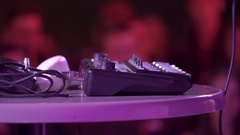 Dj beatbox deck mixer Stock Footage