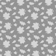 Background with leaves. Endless seamless pattern Stock Illustration
