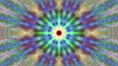 Burst Rays Ornate Magic Psychedelic Kaleidoscope VJ Motion Background Loop 2 Stock Footage