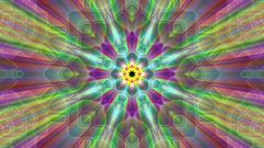 Burst Rays Complex Magic Psychedelic Kaleidoscope VJ Motion Background Loop 3 Stock Footage