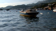 View of the bay of Przno in Montenegro Stock Footage
