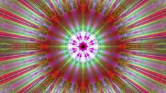 Burst Rays Ornate Magic Psychedelic Kaleidoscope VJ Motion Background Loop 3 Stock Footage
