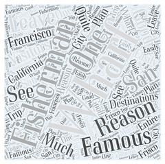 Fishermans Wharf Famous for a Reason word cloud concept Stock Illustration