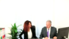 Blurred office interior background Stock Footage