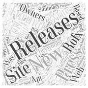 New way in the press releases writing word cloud concept Stock Illustration