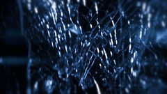 Shattering Glass In Slow-Motion With Lens Flare - 140 Stock Footage
