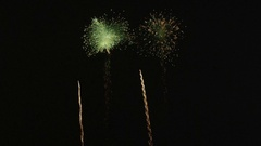 SLOW MOTION: Big fireworks for New Year's Stock Footage