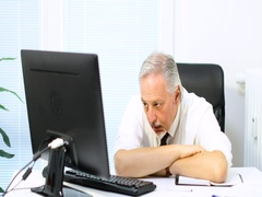 Tired businessman Stock Footage