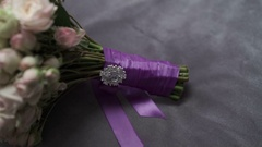Wedding flowers on bed Stock Footage