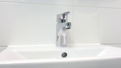 Bathroom sink and faucet. Stock Footage