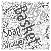 How to choose your right shower basket word cloud concept Stock Illustration
