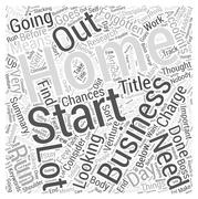 Home Business What to Consider word cloud concept Stock Illustration