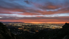 Los Angeles Mountain View Sunrise Time Lapse with Zoom In Stock Footage