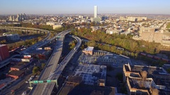 Aerial video Jersey Turnpike 4k Stock Footage