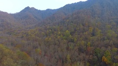 Aerial video Smokey Mountains Tennessee Stock Footage