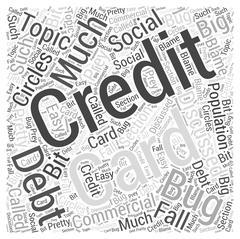 Credit Card Debt word cloud concept Stock Illustration