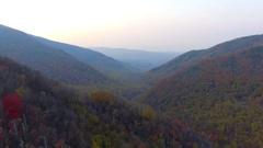 Aerial footage Smokey Mountains valley  4k Stock Footage
