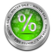 Winter Sale Button - 3D illustration Stock Illustration
