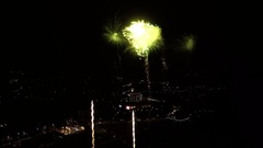 AERIAL SLOW MOTION: Fireworks Stock Footage