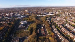 Aerial view of a recycling and refuse site in Stourbridge, UK. Stock Footage