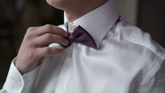 Man wearing bowtie Stock Footage