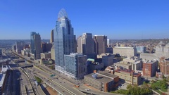 Aerial Cincinnati Ohio Stock Footage