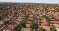 Flyover Establishing Shot Typical Arizona Neighborhood   Stock Footage