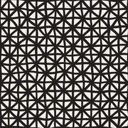 Wavy Hand Drawn Lines Triangles Grid. Vector Seamless Black and White Pattern Stock Illustration