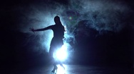 Movement rumba, salsa, latin dance performed by women. Slow motion Stock Footage