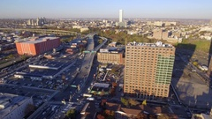 Aerial video Jersey City and Turnpike Stock Footage