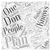 Using Our Legal Rights for Estate Planning word cloud concept Stock Illustration