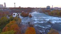 Aerial video Niagara Falls Canada Stock Footage