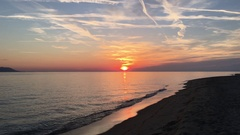 Sunset at the beach Stock Footage