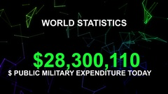 Public Military expenditure today Stock Footage