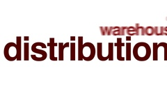 Distribution animated word cloud. Stock Footage