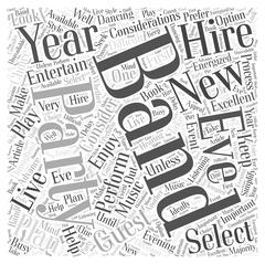 Hiring A Band For A New Years Eve Party word cloud concept Stock Illustration