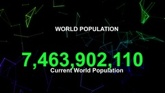 World population statscounting Stock Footage