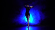 Girl dance in the studio. Slow motion Stock Footage