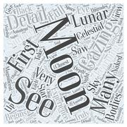Moon Gazing word cloud concept Stock Illustration